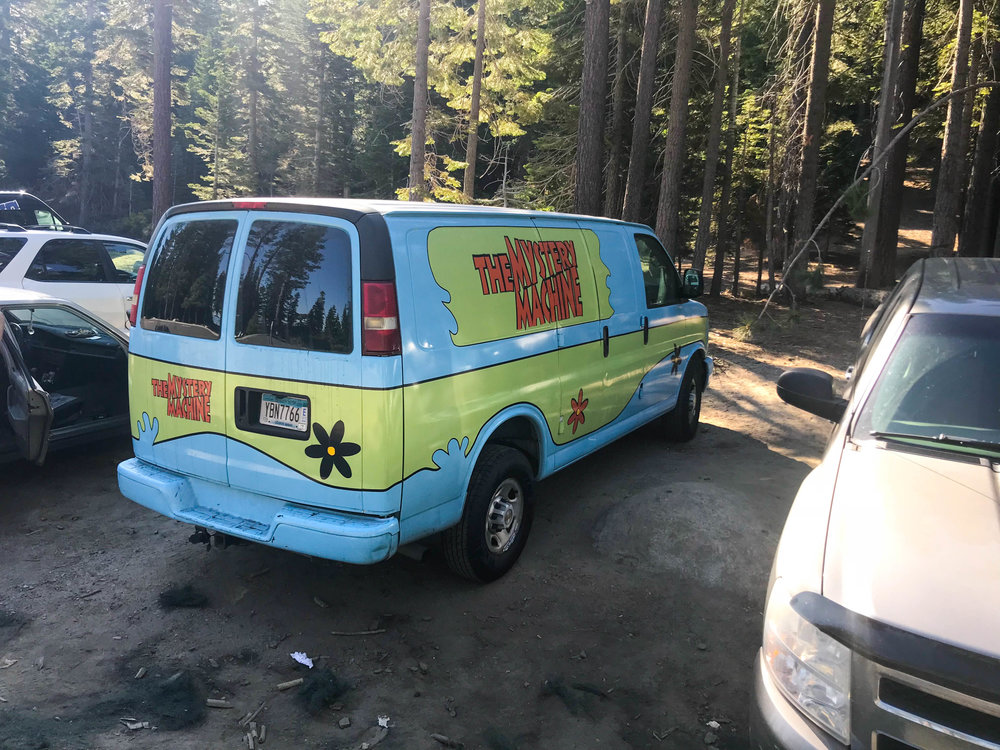 Tahoe 2018 Hiking Mystery Machine Car Scooby Doo