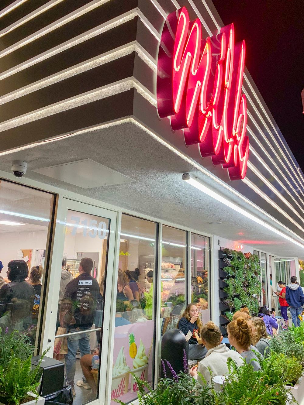 Milk Bar LA - Milk Sign
