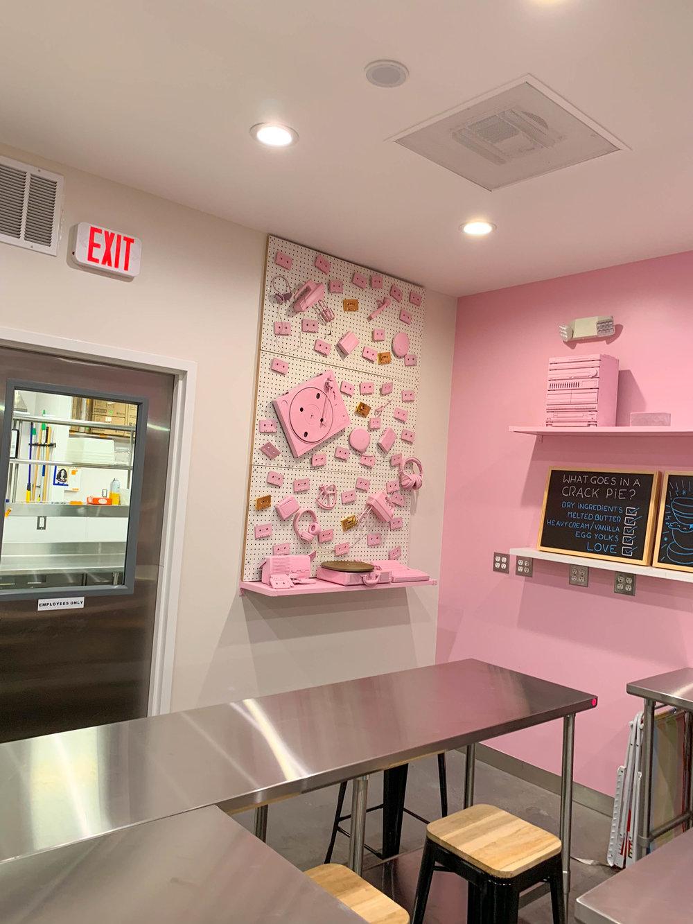 Milk Bar LA - pink things classroom