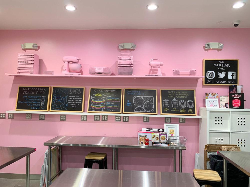 Milk Bar LA - Pink wall classroom