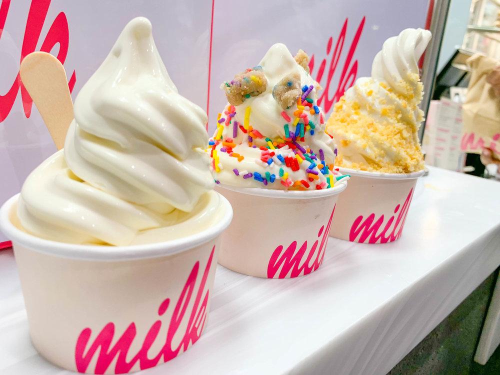 Milk Bar Los Angeles - Cereal Milk Soft Serve Ice cream