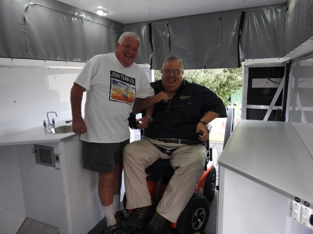 Darrell and Jol in the finished van.