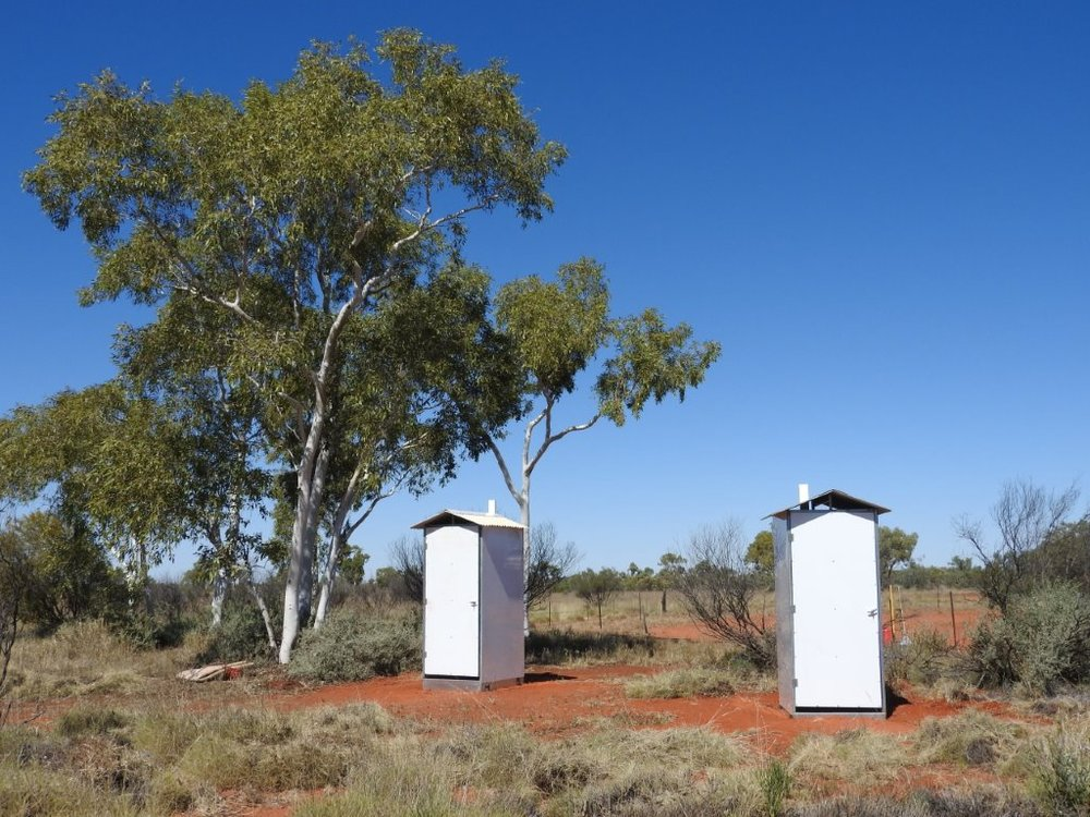 Newly built toilets