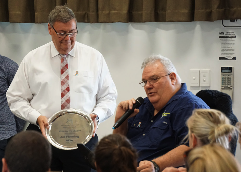 Jol received 2 awards in 2016 from the Mayor of Alice Springs for his services to the community