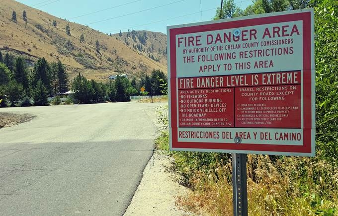 Fire Danger: Extreme - August 2nd, 2018 Update: Extreme Fire Hazard Travel and Activity Restrictions