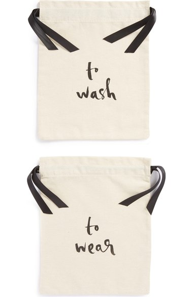 "Kate Spade ""Wear and Wash"" lingerie bag set"