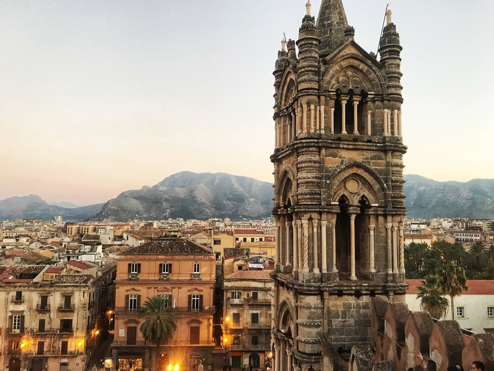 View from the rooptop of Palermo Cathedral
