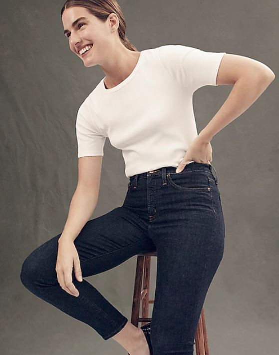 J. Crew  - 9 High-Rise Toothpick $110 + 40% off with code BIGSALE