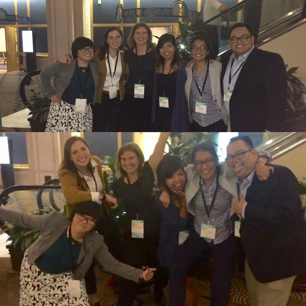 Bilinski squad celebrating at the 2016 Annual Biomedical Research Conference for Minority Students