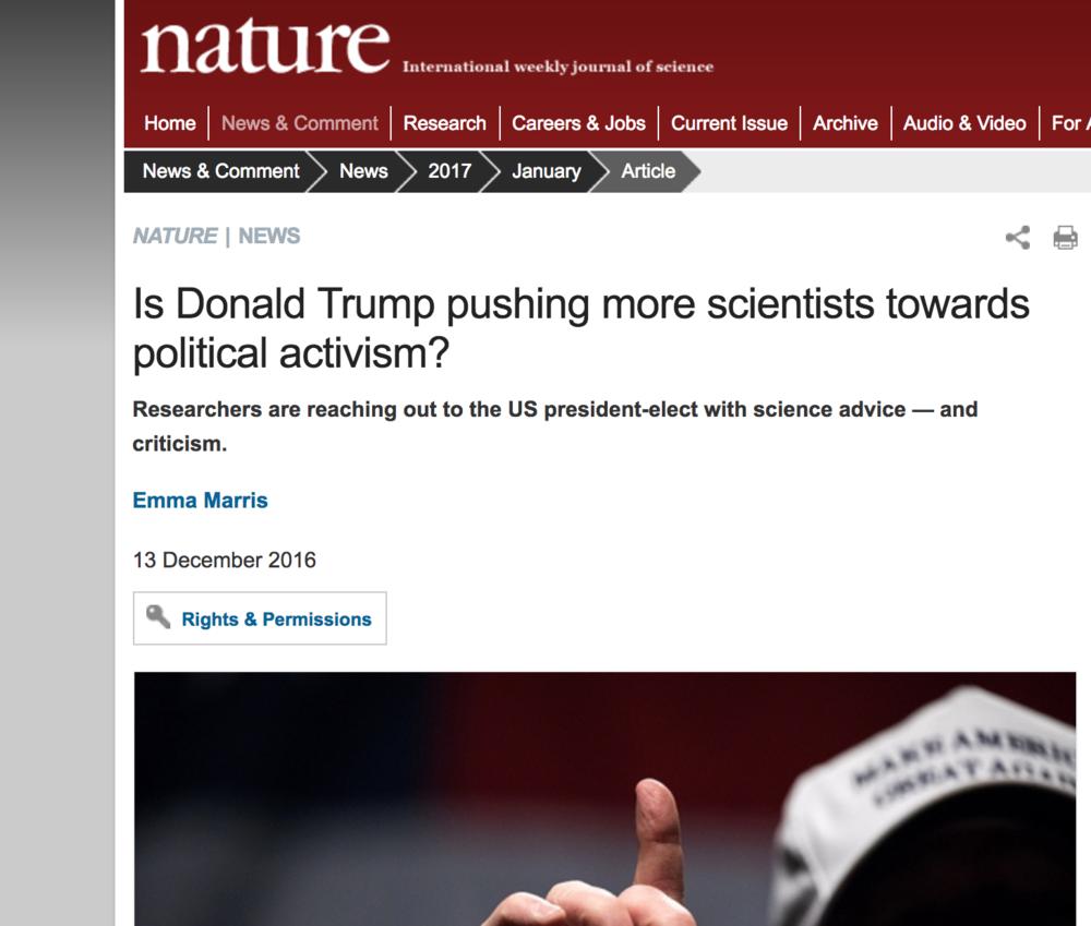 Nature News, 13 December, 2016