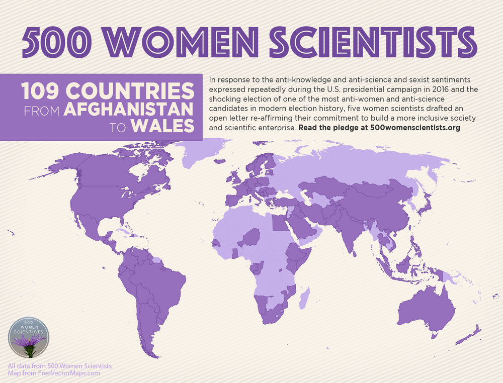 500 women scientists 109 countries from afghanistan to wales commitment to build a more inclusive society and scientific enterprise