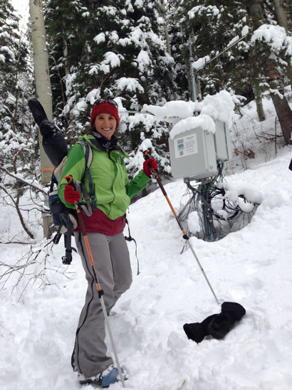Winter field work in Utah's Wasatch Range