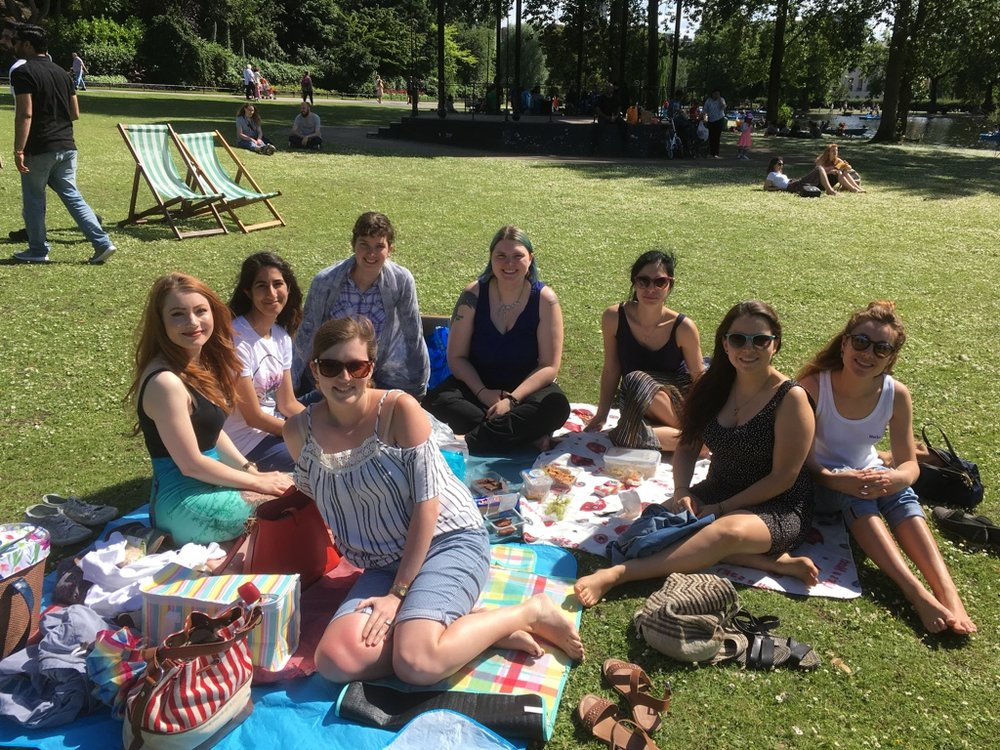 The London pod celebrating the launch of 500 Women Scientists with a picnic.