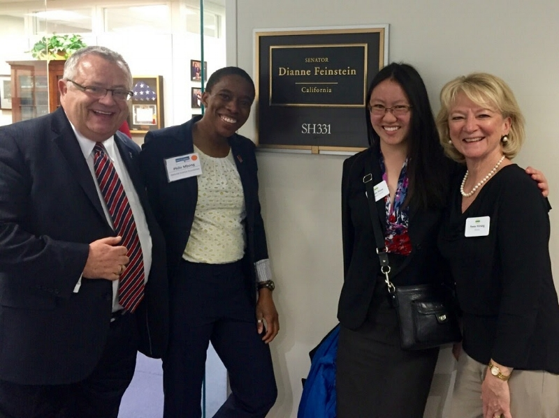 Philo and colleagues making a visit to California Senator Diane Feinstein's office on the Hill.