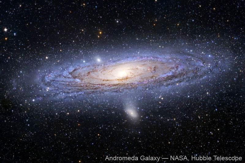 """Andromeda galaxy, our neighbor. It's just SO beautiful."""
