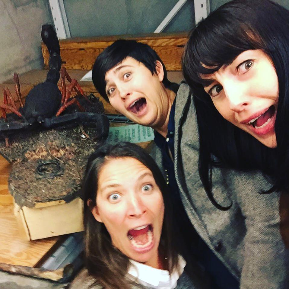 Laurel with Lauren Esposito and Michelle Trautwein.