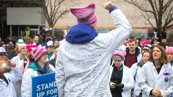 Scientists join massive protest against Trump Researchers at Women's March in Washington DC defend their work as US president takes office jane zelikova kelly ramirez 500womenscientists
