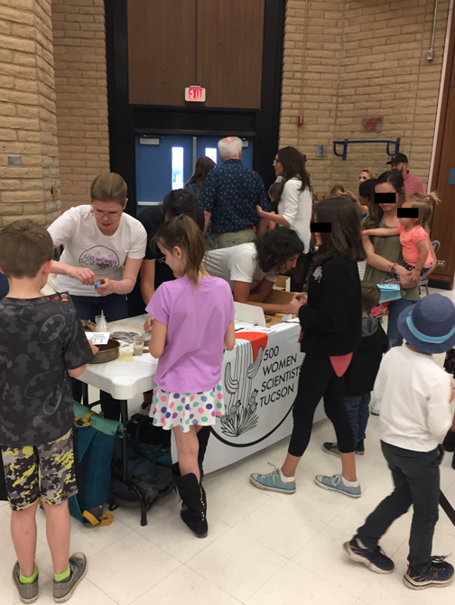 Donaldson Elementary STEM 2018 night, kids making soil profiles!