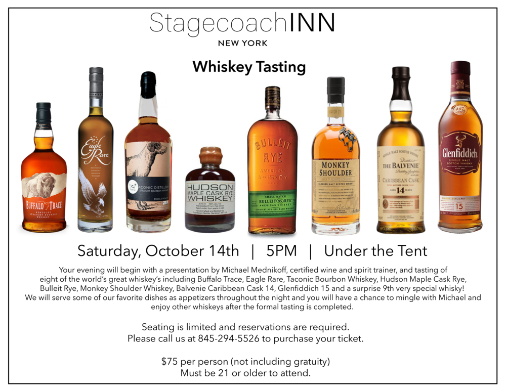 Bourbon and Scotch Whisky Tasting