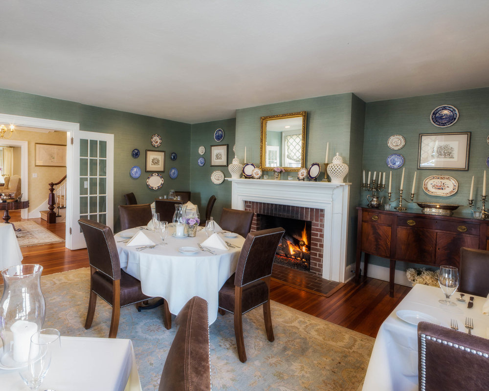 Our Spode dining room is Hudson Valley elegant dining at its best.