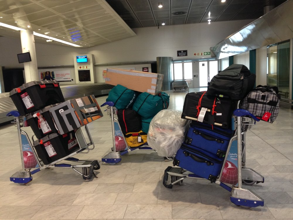 Our Luggage in the Cape Town airport