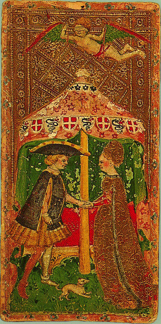Cary-Yale Tarot, The Lovers     15th Century