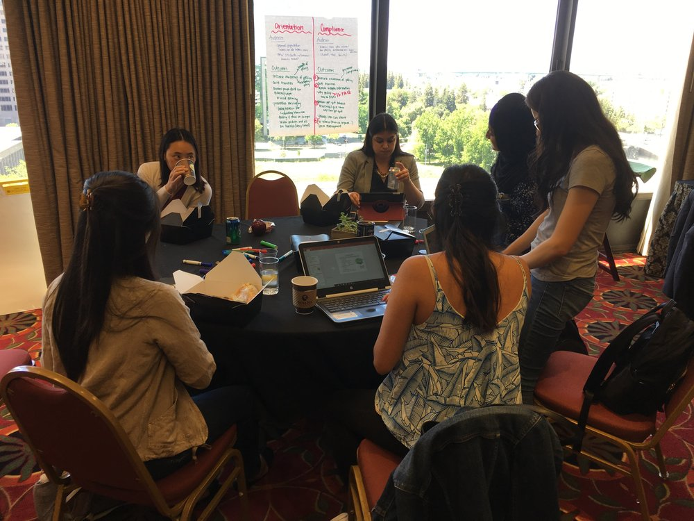 COUGH Students work together in subcommittee meetings, developing projects, strategies and timelines.