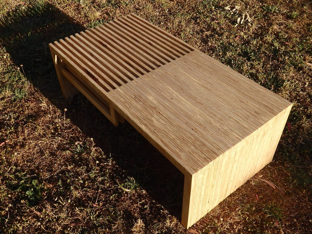 Plywood coffee table made by Al and Imo handmade furniture, Melbourne, Surf Coast, Victoria, Australia