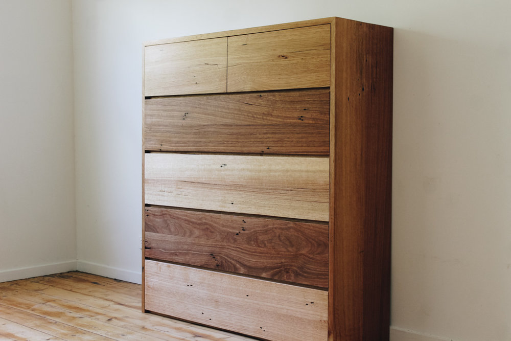 Al and Imo Handmade timber tallboy custom made from recyclled messmate surf coast melbourne_-4.jpg
