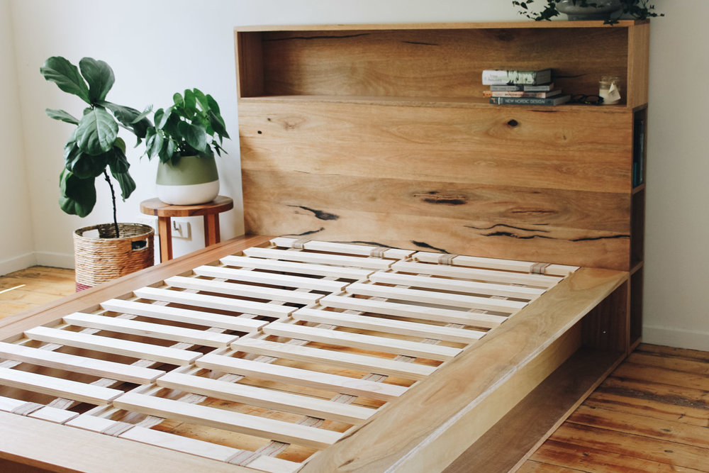 al and imo handmade timber platform bed frame with bookshelf bed head (20 of 25).jpg