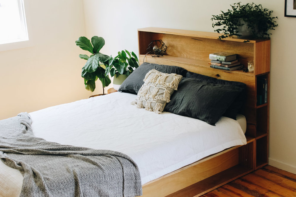 al and imo handmade timber platform bed frame with bookshelf bed head (10 of 25).jpg