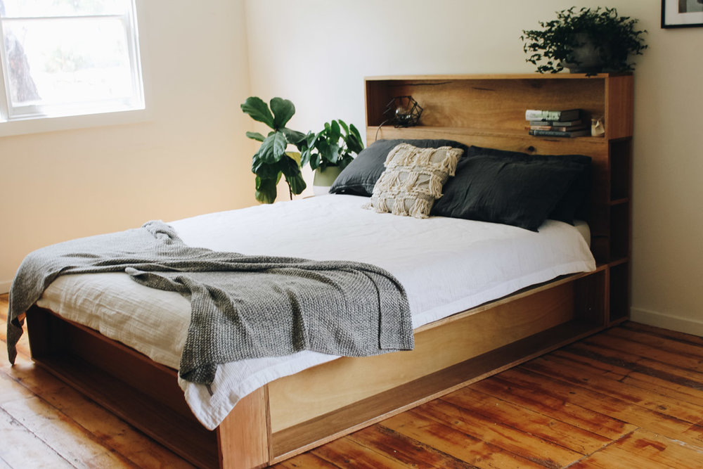 al and imo handmade timber platform bed frame with bookshelf bed head (4 of 25).jpg