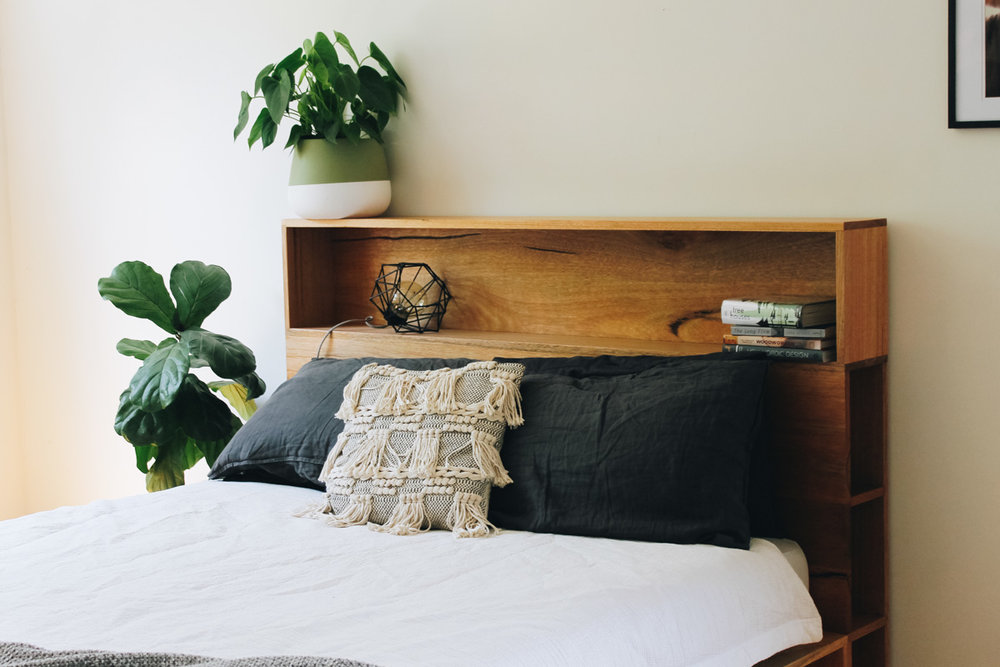 al and imo handmade timber platform bed frame with bookshelf bed head (1 of 25).jpg