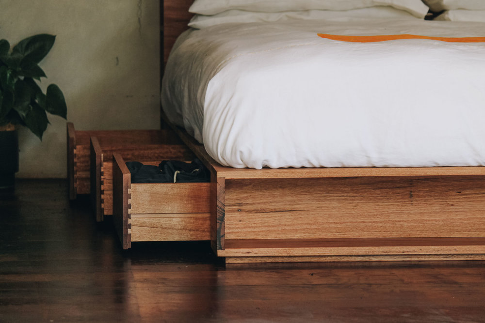 Al and Imo Handmade Bookshelf Drawer Bed Recycled timber - surf coast - melbourne - australia-3.jpg