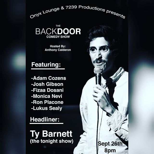 Reminder comedy show next week Tuesday September 26 at 8pm #onyxloungela . #laughter #laugh #goodtimes #friends #jokes #funny #lounge #bar #drinks #beer #shots #cocktails #comedy #dtla #losangeles #downtownla