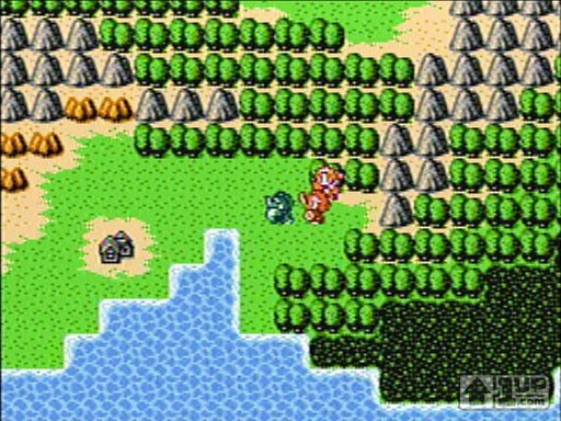 JRPG, I choose you! World screen from Guadia Quest, Retro Game Challenge's take on the classic JRPG. Image from 1up.com.