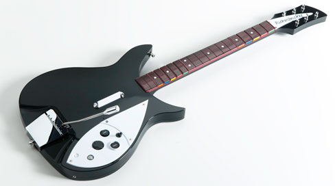 A picture of the The Beatles: Rock Band Rickenbacker (á la John Lennon) that gamers will be able to buy this fall.