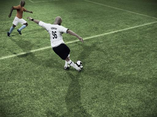 FIFA 09 and NHL 09 by EA Sports have great Be A Pro modes that are engaging and allow you to do crazy things like this (yes, that's very hard to do in real life soccer, believe me).