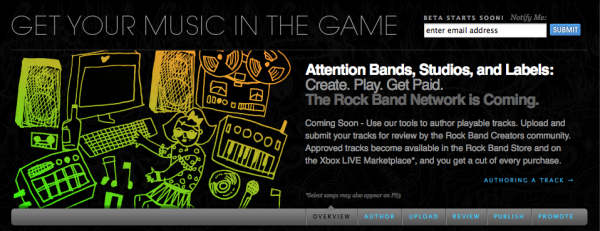 Anyone who owns the rights to a song and has the master recordings in their possession can put a song up for sale in Rock Band.
