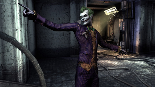 The Joker is quite the entertaining villain in Arkham Asylum -- Mark Hamill portrays the character perfectly