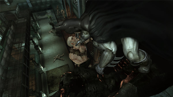 One of the most Batman-like actions in the game is the inverted takedown