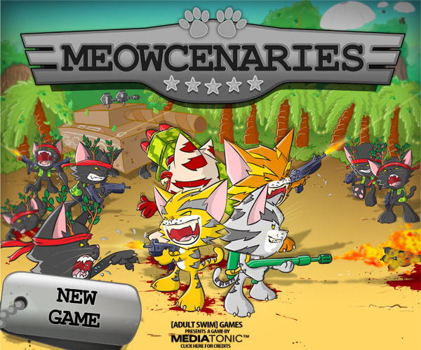 About an Adult Swim Flash Game: Meowcenaries