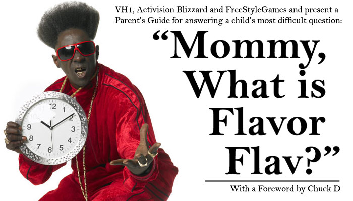 Flavor Flav is a touchy subject for youngsters.