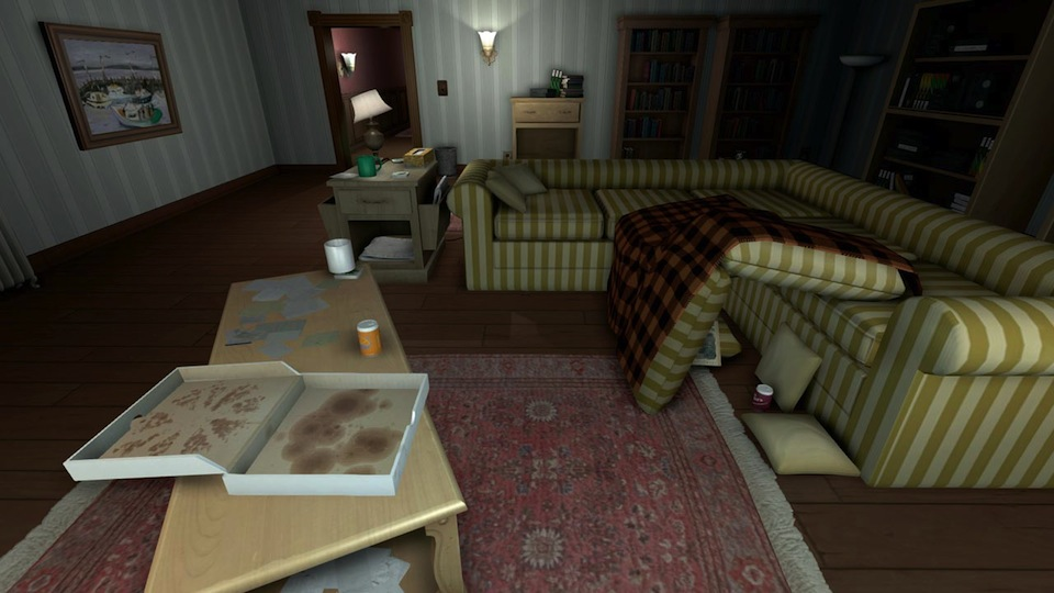 The quintessential 1990s sleepover party aftermath as depicted in Gone Home