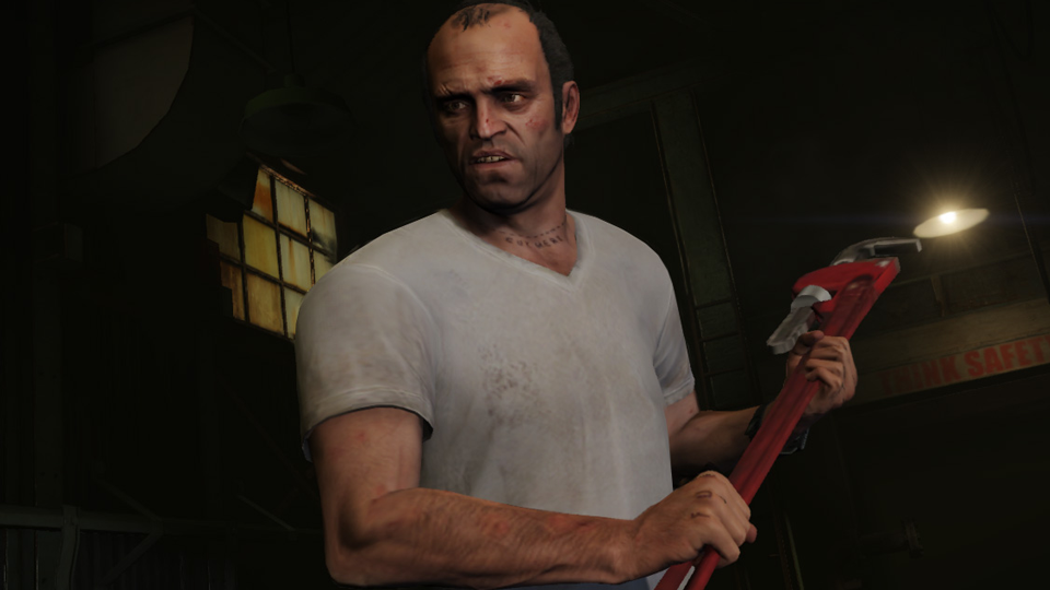 Pretty much the only non-triggering image I could find from GTA V's torture scene