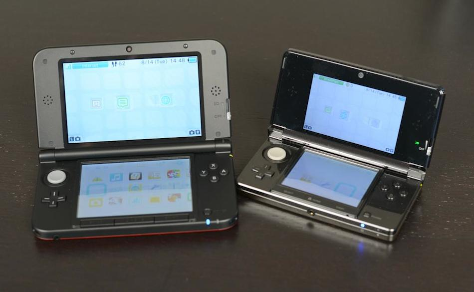 Is it really the 3DS' fault that the XL (at left) does everything so much better?