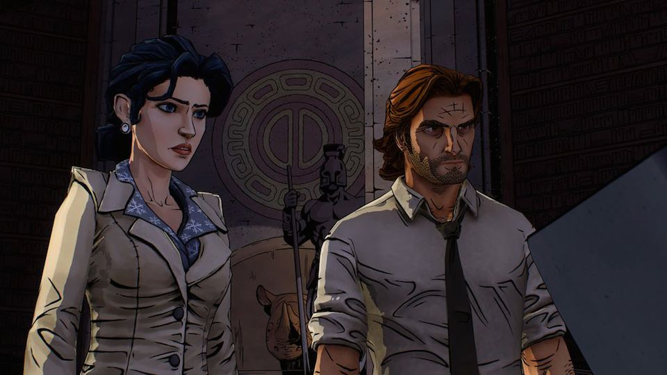 Snow White and Bigby Wolf, contemplating the newest twist in the story.