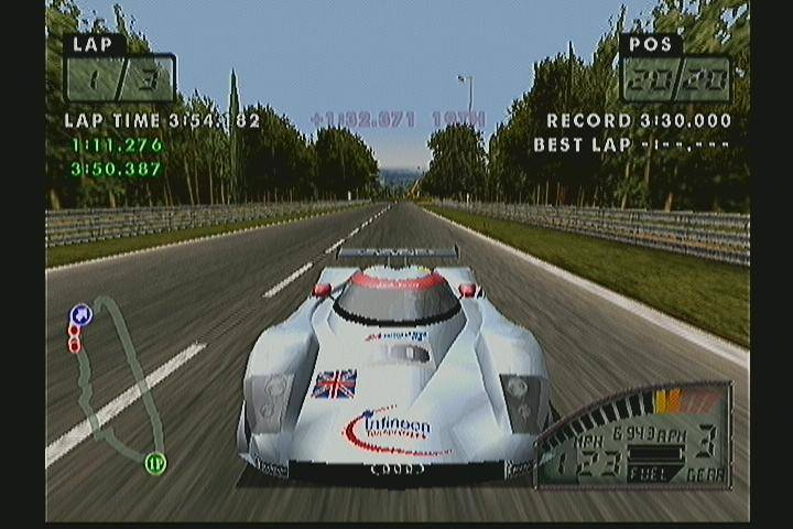 The Mulsanne Straight at Le Mans, as I discovered it in   Test Drive Le Mans