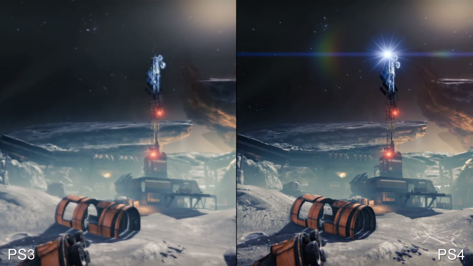 Screenshot from Digital Foundry's  Destiny   comparison video