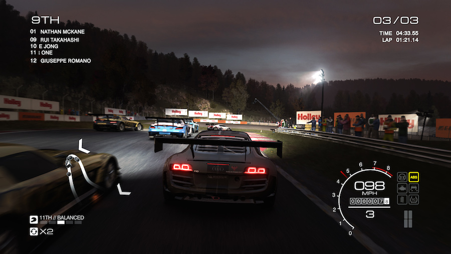 Most racing games start you in piddly, slow cars. GRID Autosport lets you jump straight into FIA GT3-level cars in the Endurance part of the ladder. Nice!
